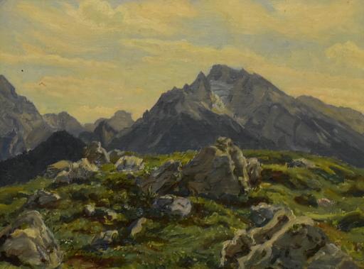 Paul FÖRTSCH - Painting - Bergsattel