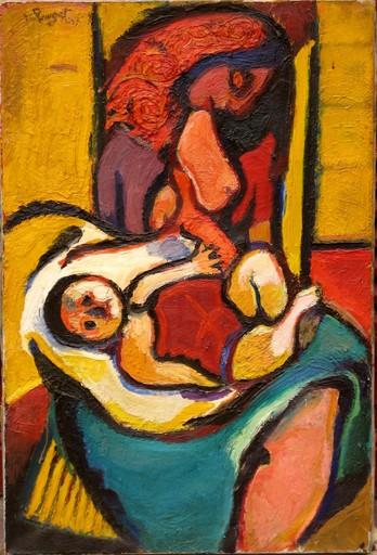 Marcel POUGET - Gemälde - SUZY A L'ENFANT