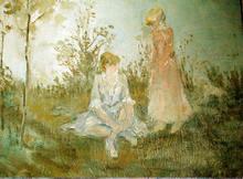Mikhail LARIONOV - Painting - Jeunes Filles au bord de la Riviera