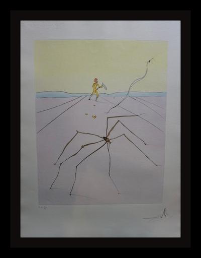 Salvador DALI - Grabado - Japanese Fairy Tales The Weaver Spider