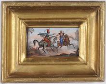 "Carle VERNET (Attrib.) - Miniatura - ""Skirmish between French Hussar and Mameluk"""