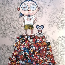 Takashi MURAKAMI - Estampe-Multiple - DOB & Me: On the Red Mound of the Dead