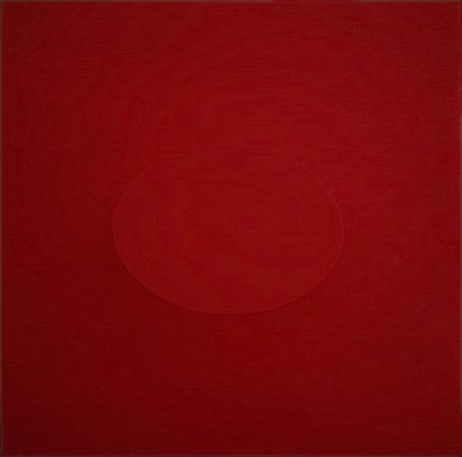 Turi SIMETI - Painting - UN OVALE ROSSO