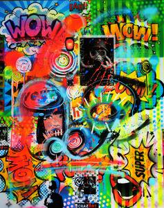Dominique DOERR - Peinture - Crazy art pop