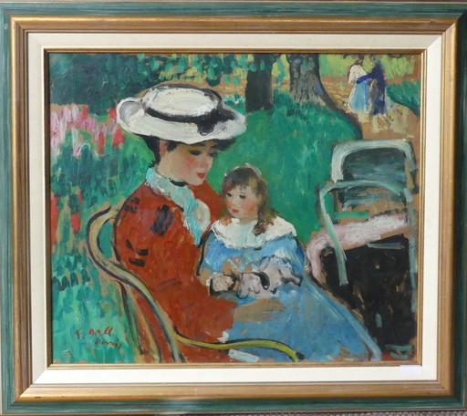 François GALL - Painting - Au parc