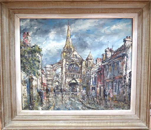 Raymond BESSE - Painting - Brie comte robert