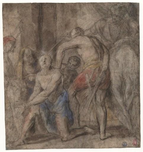Jacopo da P (Studio) BASSANO - Drawing-Watercolor - Décollation d'un saint