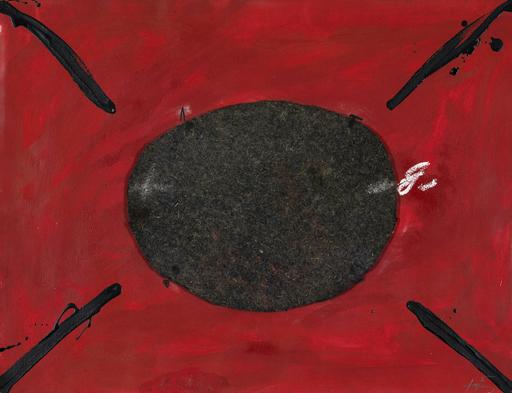 """Antoni TAPIES - Gemälde - Serie """"U no és ningú"""" No. 21"""