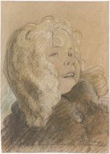 "Charles JOHN - Dessin-Aquarelle - ""Study of a Little Girl"", 1920s"