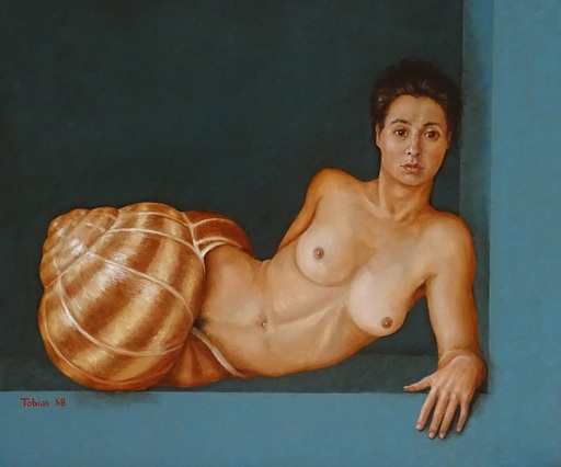 Tobias HARRISON - Pittura - Coming out of her shell