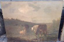 Andrés CORTÉS - Pintura - Paisaje con vacas