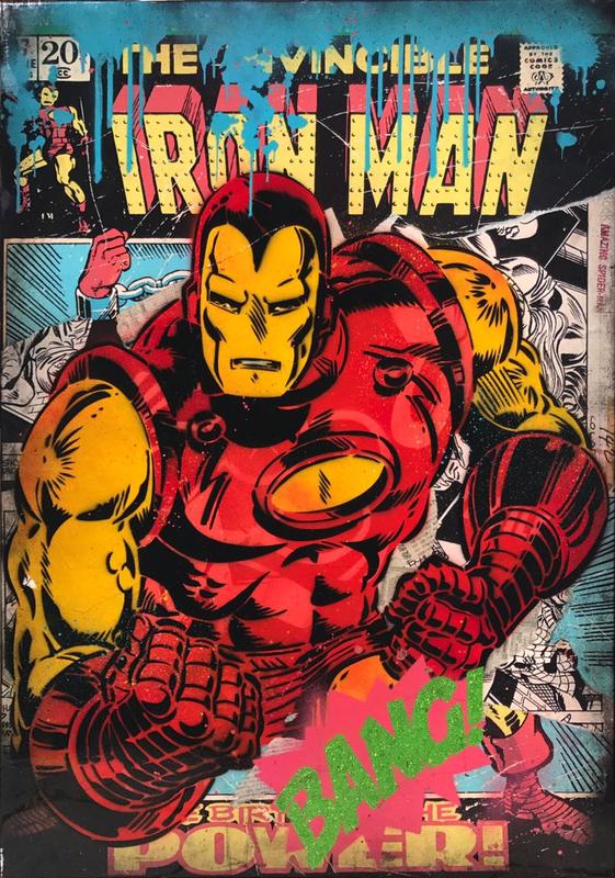 ALESSIO-B - Peinture - Iron Man Bang