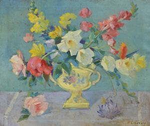 Nicolai CIKOVSKY - Pintura - Floral still life
