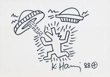 Keith HARING - Dessin-Aquarelle - Sans titre