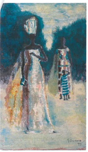 Gérard SEKOTO - Painting - Africaines
