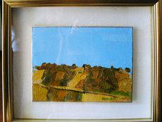 Ennio MORLOTTI - Painting - Colline a Bordighera