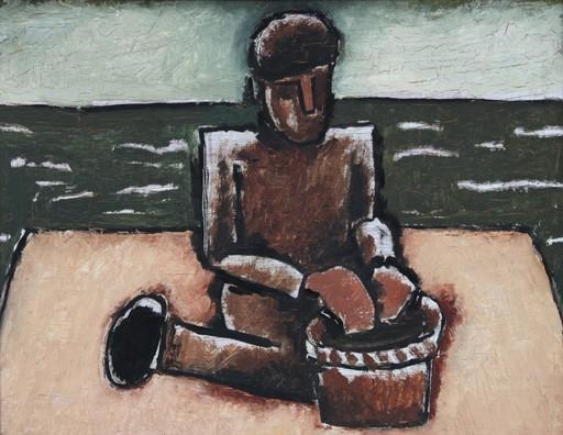 Josef HERMAN - Pintura - Fisherman with Basket