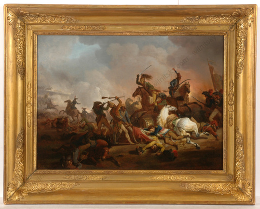 """Jacques François Joseph SWEBACH - Painting - """"Russians capture French banner at Trebbia"""""""
