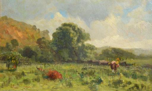 Egor Egorovich SCHREIDER - Painting - Landscape