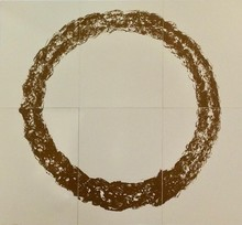Günther UECKER - Print-Multiple - Ouroboros (natural sand)