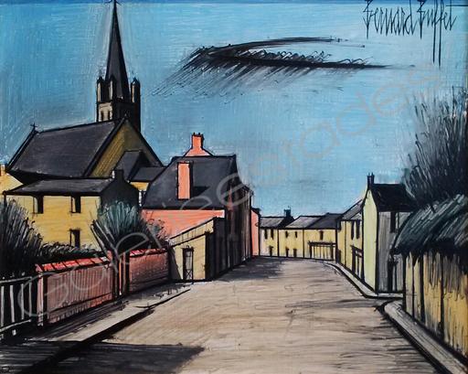 Bernard BUFFET - Gemälde - Le Village