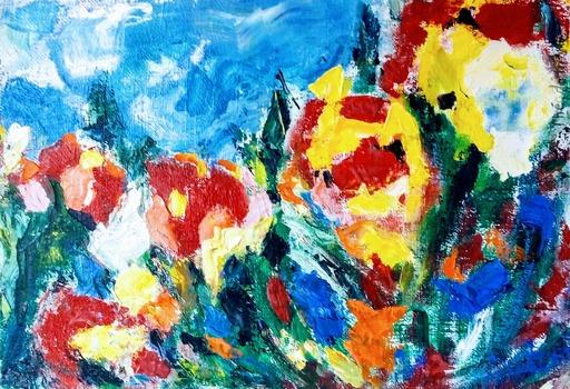 Theodora BERNARDINI - Painting - Le Jardin de Marie