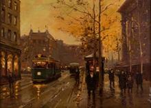 Édouard CORTES - Painting - Place de la Madeleine, Paris