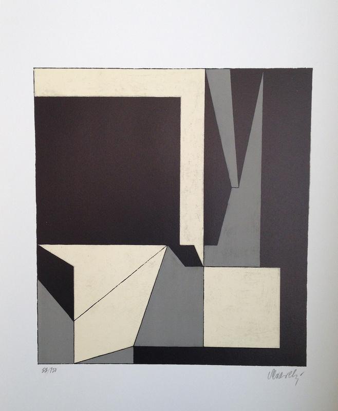 """Victor VASARELY - Druckgrafik-Multiple - Elche (from """"Octal"""")"""