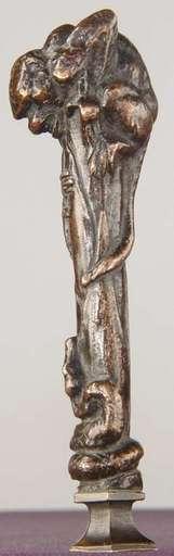 Emmanuel FRÉMIET - Escultura - Cachet au singe et serpent 1858