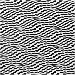Franco GRIGNANI - Dessin-Aquarelle - Permutazioni oscillanti su reticolazione matematica (66/A)