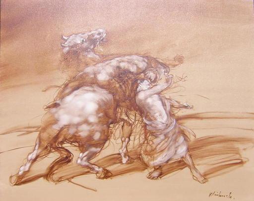 Claude WEISBUCH - Painting - L'enlèvement