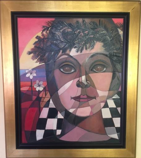 Yvette MANIGLIER - Painting - PORTRAIT SYMBOLIQUE DE RAYA