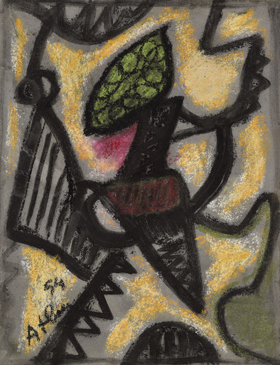Jean-Michel ATLAN - Zeichnung Aquarell - Composition, 1954