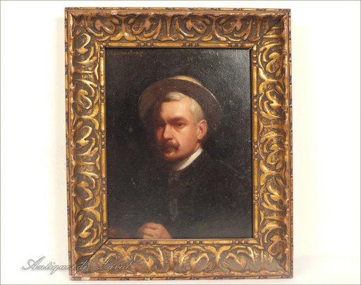 Eugène FOREL - Pintura - HSP E. Forel, Autoportrait, 1897