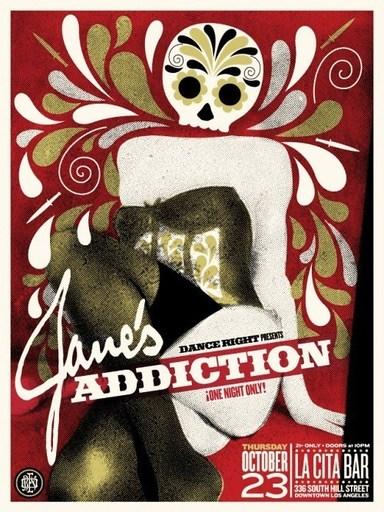 """谢帕德·费瑞 - 版画 - """"Janes Addiction"""""""