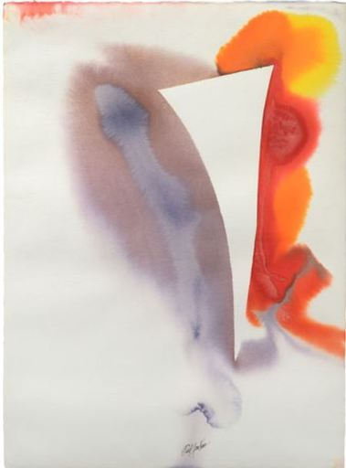 Paul JENKINS - Drawing-Watercolor - Phenomena flinker high flyer St. Croix