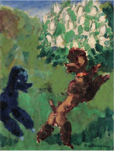 Kees VAN DONGEN - Painting - Deux caniches