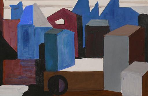 Horst DE MARÉES - Painting - Abstrakte Stadt in Südfrankreich