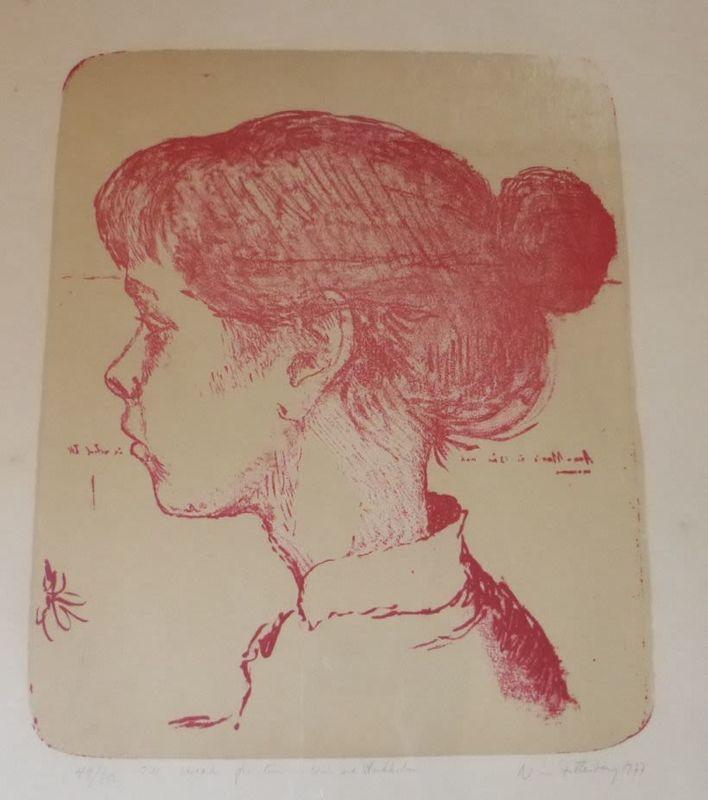 Nisse ZETTERBERG - Print-Multiple - Profile of a Girl