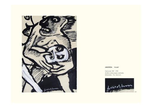 Bengt LINDSTRÖM - Painting - La Lute