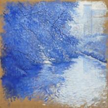 Carlos ESTEBAN - Painting - Andelle à Douville (bleu) (Cat N° 3171)
