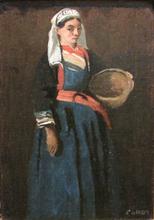 让巴蒂斯特卡米尔柯罗 - 绘画 - Paysanne bretonne