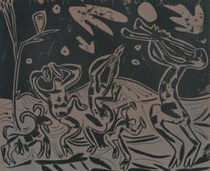Pablo PICASSO - Print-Multiple - Les Danseurs au Hibou / Dancers with an Owl