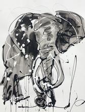 Edwige COL - Drawing-Watercolor - Éléphant