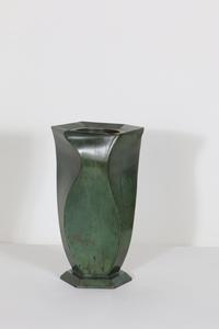 Jean DUNAND - Scultura Volume - Vase en bronze patiné vert