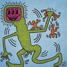 Keith HARING - Pittura - Sans titre