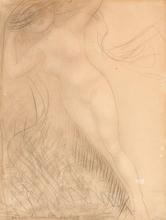 Auguste RODIN - Dibujo Acuarela - La Fortune