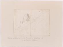 "Moritz VON SCHWIND - Drawing-Watercolor - ""Ruin Theben at the Danube River"""