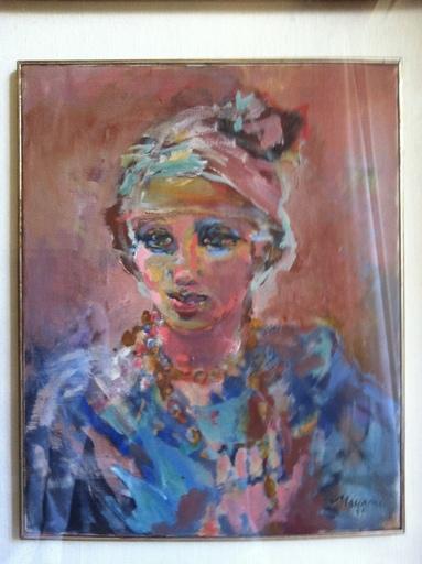 Mino MACCARI - Pintura - ritratto di donna