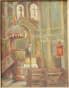 Oldrich BLAZICEK - Painting - Interior